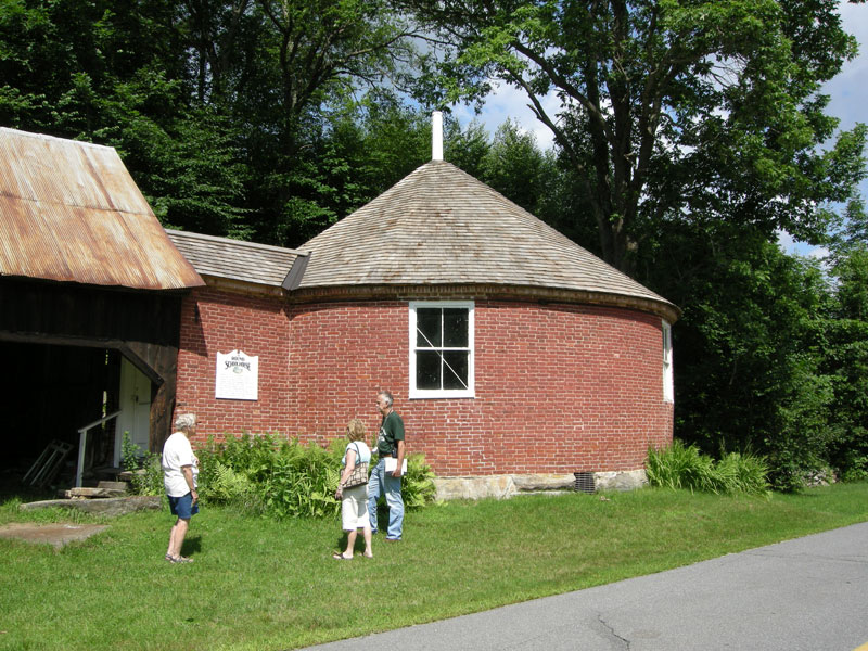 The Round Schoolhouse in Brookline, Vermont, where Captain Thunderbolt taught