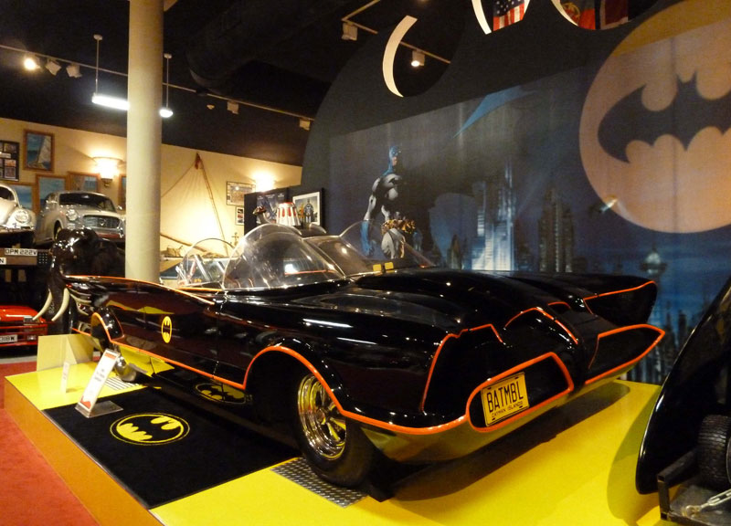 The original Batmobile from the 1960s TV show