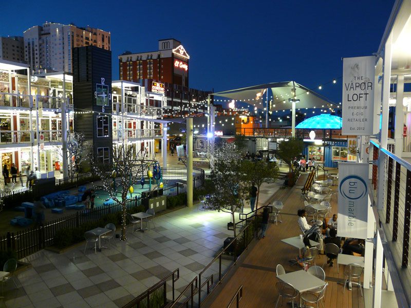 Container park helps showcase rebirth of downtown las vegas - Container homes las vegas ...