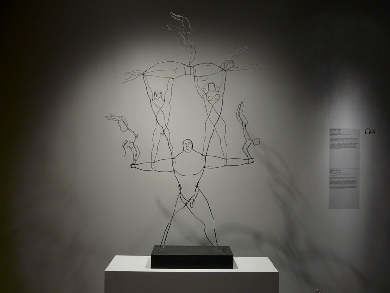 The Brass Family (1929) wire sculpture by Alexander Calder