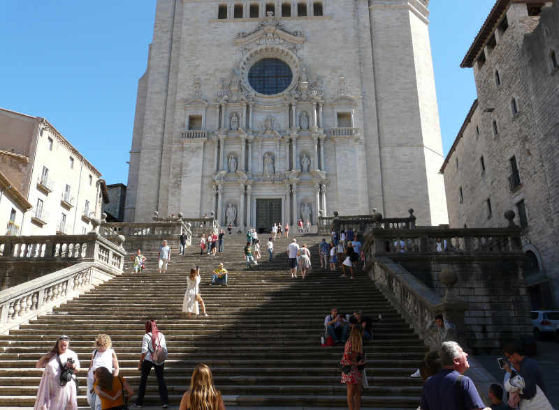 Girona's cathedral, finished in 1733, was used as a set in the HBO series Game of Thrones